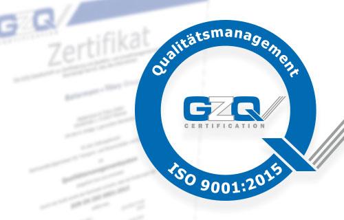 BT und BTGM ab sofort ISO zertifiziert